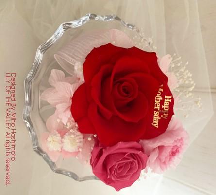 母の日 花びら印字 赤バラ