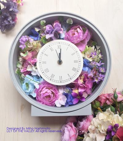 花時計 造花 通販