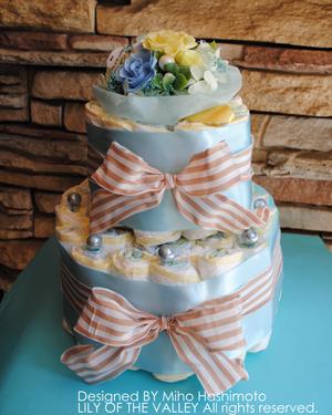 ニュアンスカラーのダイパーケーキ
