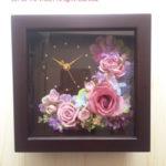 花時計 お花が選べるフラワークロック