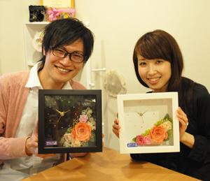 結婚式 ご両親へのプレゼント 花時計 ワークショップ