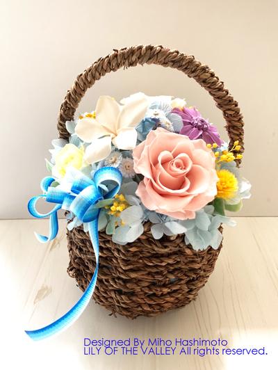 お供え かご花