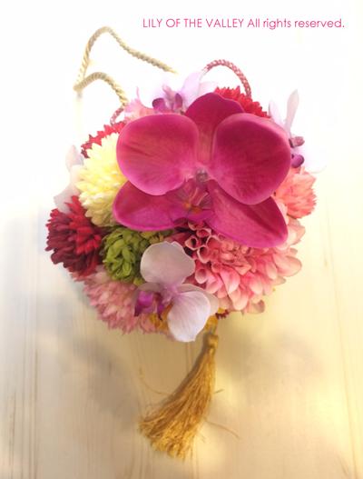 ボールブーケ 造花
