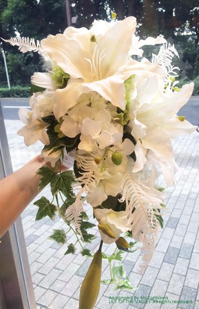造花 キャスケードブーケ 栗川様の作品