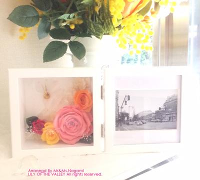 ダイヤモンドローズの花時計&写真立て 永見様ご夫妻の作品