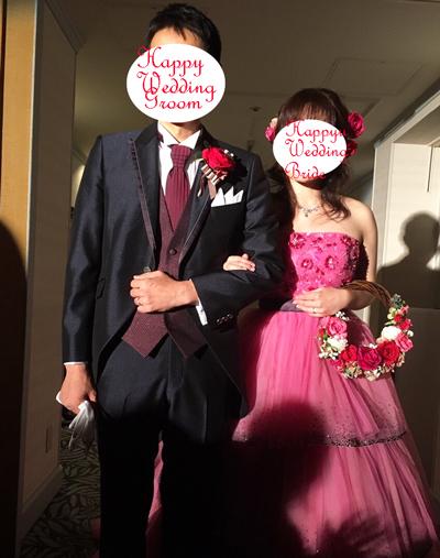 リースブーケ 結婚式のお便り
