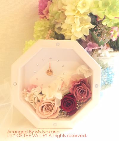 花時計 八角形 ご両親へのプレゼント