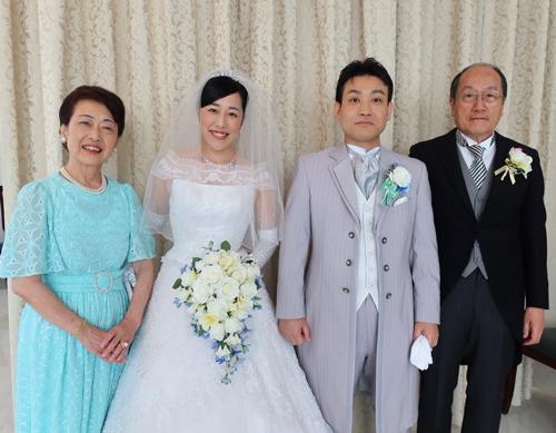 手作りブーケ 結婚式のお写真