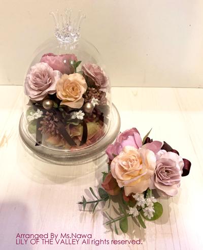 造花 リングピロー 一日体験レッスン作品