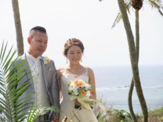 プリザーブドフラワー クラッチブーケ 結婚式のお写真