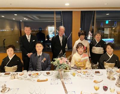 ブーケレッスン ご結婚式のお写真