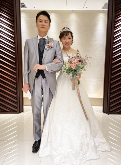 結婚式のお写真 ブーケレッスン受講生のお便り