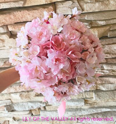 桜の花のブーケ 受講生作品