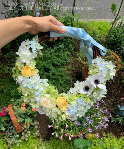 リースブーケ 造花