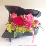ピアノ プリザーブドフラワーアレンジ「ピアニスト」