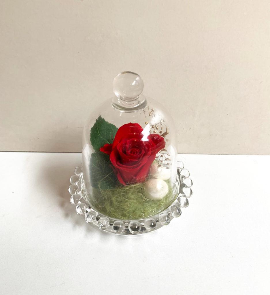 ガラスドーム プリザーブドフラワー