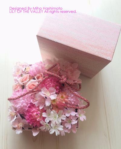 桜の花のフラワーボックス