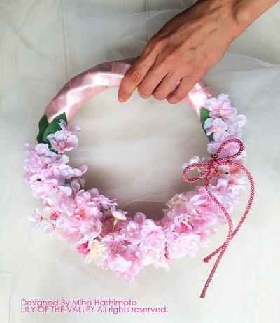 桜の花のリースブーケ