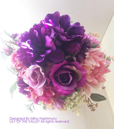 アネモネのブーケ 造花