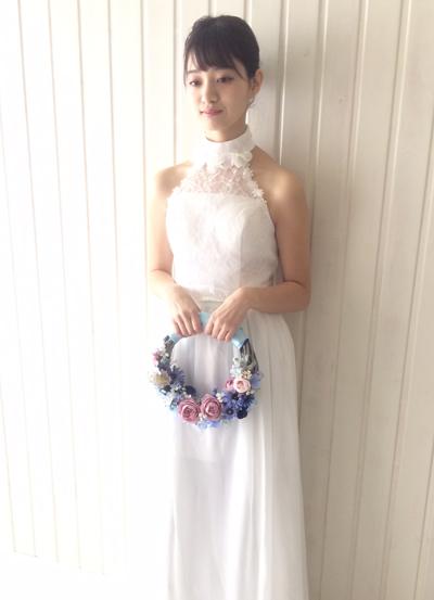 サムシングブルーのリースブーケ 花嫁様の画像
